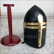 Armor Helmet Accents Sugarloaf Medieval Knight Crusader Armour Vintage handmade