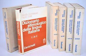 Cortelazzo & Zolli: DIZIONARIO ETIMOLOGICO Lingua Italiana 5 vol Zanichelli