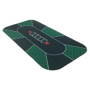 8 Player Poker Mat Portable Rubber Table Layout w/Carrying Bag Play Cards Games