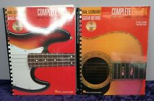 Hal Leonard Guitar Method Complete Second Edition With CD's Music Sheet Books x2