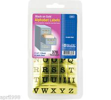 Bazic Gold Foil Alphabet Label 37 Pack of 24 #3803