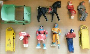 Old BARCLAY USA 1930s Dimestore Lead Winter Figures, Assorted Poses, 10 Pieces
