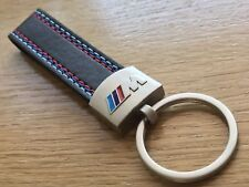 BMW M Sport Keyring key ring Leather Stainless Steel Chain M3 M5 E36 E90 E60 F10
