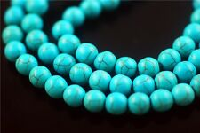 50pcs Round Synthetic Green Turquoise Gemstone Beads Spacer Jewelry Findings 8mm