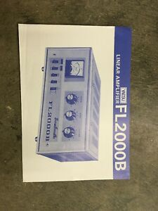 Yaesu FL2000B Amateur Linear Amplifier Sheet Only