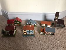 Vintage Faller Model village houses and church