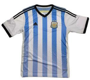 Adidas AFA Soccer Football Jersey Mens Size L Sky Blue White Black Stripes