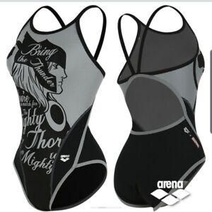 Arena X Marvel Thor Women's One Piece Swimwear AVBCO92 DGY Size 85-90 (M)