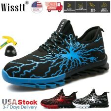 Mens Steel Toe Sneakers Ultralight Work Safety Esd Sports Shoes Cushioned Boots