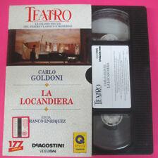 VHS film LA LOCANDIERA Carlo Goldoni Enriquez TEATRO DE AGOSTINI (F107) no dvd