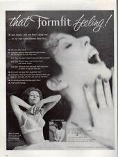 Vintage advertising print ad FASHION Formfit Feeling RAVE Bra u shape Back 1960