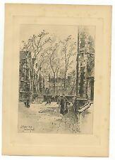 Herbert Railton Eng. Engraver Engraved Plate, 1908 Master's House, Inner Temple