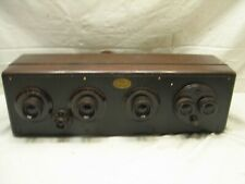 Antique Atwater Kent Model 20 Tube Compact Radio Receiver Big Box Wooden Case
