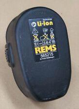 Rems batería nr 565215 Li-ion 18v 2,6 ah para batería-curvo una dobladora de tubos predecesor 565225