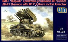 TANK M4А1 WITH M17/4.5INCH ROCKET LAUNCHER WWII 1/72 UNIMODEL UM 224