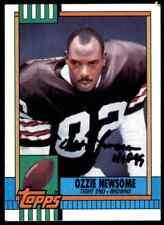 1990 Topps Ozzie Newsome Autograph Jsa Auction Coa Auto Cleveland Browns #168