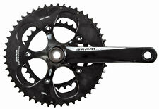 SRAM Apex 2x10 Speed Road Bike Crankset Black/White 34/50 x 165mm