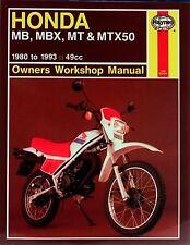 Reparaturanleitung Honda MB, MBX, MT & MTX50 (80 - 93)