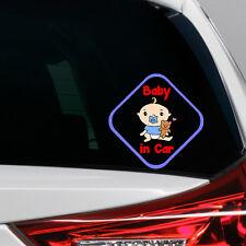 Baby Boy in Car Funny Novelty Car Bumper Window Sticker Decal Full Colour