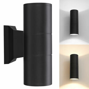 Outdoor Cylinder Dual Up Down Aluminum 15W LED Lamp Waterproof Wall Light Sconce