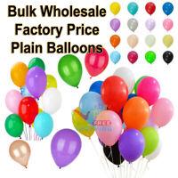 "100 LARGE PLAIN 10/"" BALLOONS BALLONS helium BALLOONS Quality Bday Wedding BALOON"