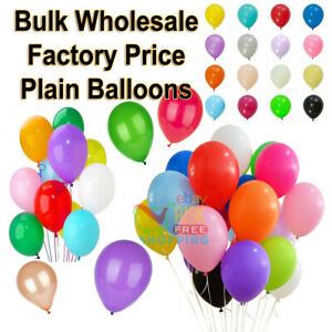 "100 LARGE PLAIN 10"" BALLOONS BALLONS helium Quality BALLOONS Wedding Bday BALOON"