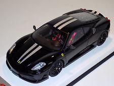 1/18 Looksmart MR Ferrari F430 Scuderia Nero DS 1250 Silver Stripes Black Wheels