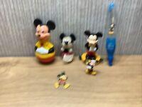 Disney Mickey Mouse Collectable Bundle X6 Joblot Toys Plush Pen  Pendant Figure