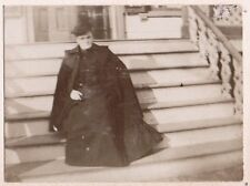 VINTAGE 1897 STRATFORD CONNECTICUT VICTORIAN WOMAN FASHION OLD HAT CLOTHES PHOTO