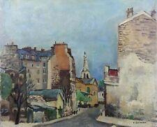 Pierre QUINIOU (1920-2015) Vue de Quimper  ? France Bretagne Finistère Paris