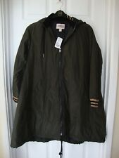 BNWT Forever 21 Contemporary Womens Hunter Green Oversize Parka size XS