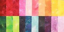 "Benartex Fossil Fern - Gorgeous FOSSIL FERN Rainbow Colours - 5"" Charm Squares"