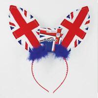 GB Union Jack Bunny Ears Great Britain Headband Royal Wedding Fancy Dress