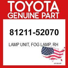 TOYOTA GENUINE 81211-52070 LAMP UNIT, FOG LAMP, RH OEM