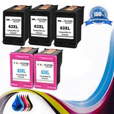 5 Combo Ink Cartridges for HP 63XL HP Deskjet 1110 1112 2130 3630 3632 3634 3636
