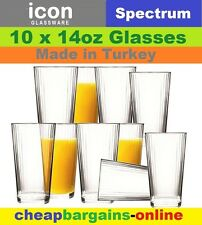 "10pc CIRCLEWARE ICON DRINKING GLASS SET ""SPECTRUM"" GLASS BEVERAGE SET GLASSWARE"