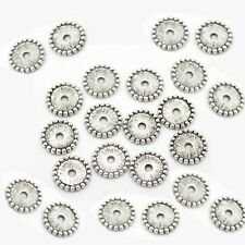 50 Silver Tone Spacer Beads 12mm x 12mm Jewellery Making