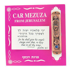 Hamsa Car Mezuzah - Gold Color Mezuza