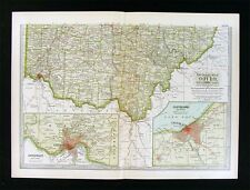 1902 Century Atlas Map - Southern Ohio - Cincinnati Columbus - Cleveland Plan