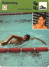 DEBBIE MEYER 1977 FOCUS ON SPORTS CARD