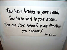Dr Seuss Vinyl wall word decal quote You have brains in your letter suess school