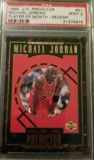 1995 Upper Deck Predictor #R1, Michael Jordan, player of the month, rare   PSA 9