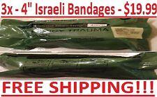 """3 Bandages - MILITARY 4"""" INCH ISRAELI EMERGENCY TRAUMA COMPRESSION DRESSING 2026"""