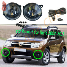 LED Fog Lights Bumper Lamps Wiring k Fit For Dacia Duster Sandero Logan 04-15