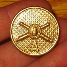 WW1 1920s Gilt Enlisted Collar Insignia Coast Artillery Company A