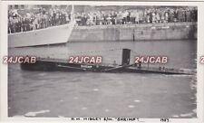 "Photograph Royal Navy. HMS ""Shrimp"" Stickleback class Midget submarine. 1957"