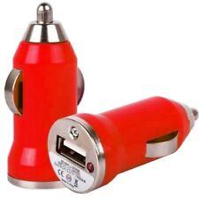 USB Car Charger Adaptor Plug 12V Red