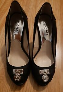 Michael Kors Black Hamilton Wedges Size 3 (6M)
