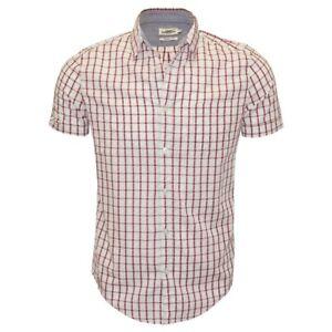 Ex UK Chainstore Men's Short Sleeve Check Cotton Summer Casual Shirt Tops C130