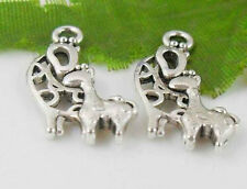 Free Ship 24Pcs Tibetan Silver (Lead-Free)Lovely deer Charms Pendant 22x11mm